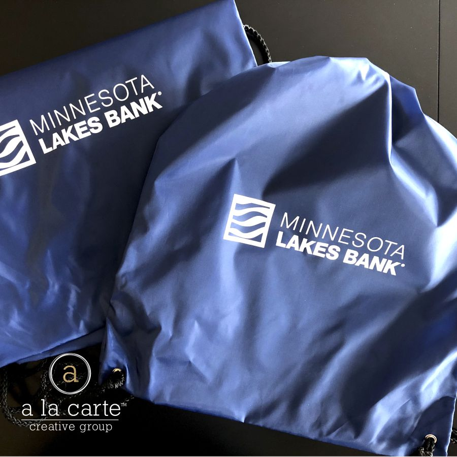 MN Lakes Bank Drawstring Bag
