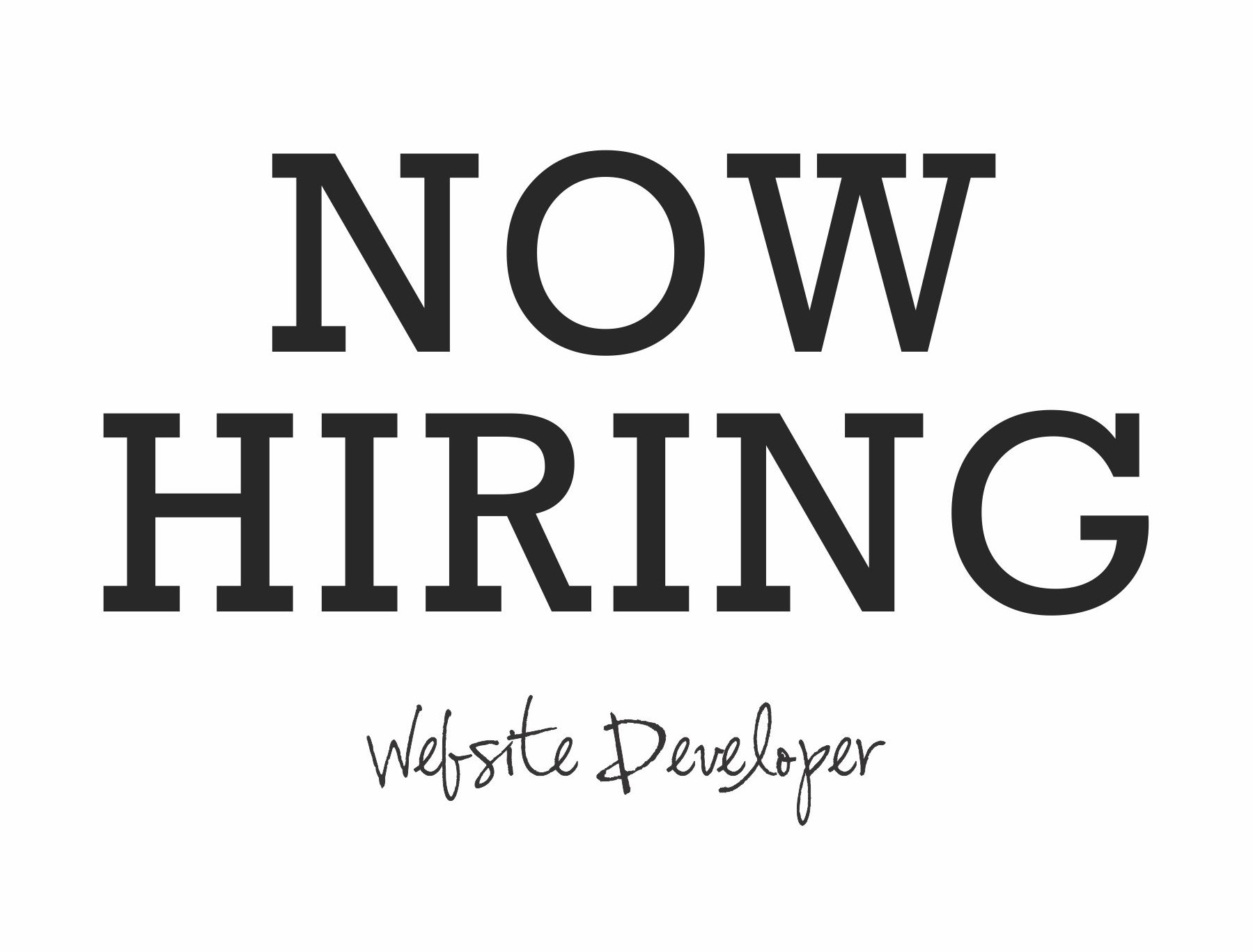 SEEKING A PASSIONATE WEBSITE DESIGNER & DEVELOPER